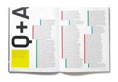 Interesting Text layout - MAP Magazine: Issues 12-20 good way of separating text info?