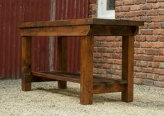 Rustic Vintage Style Industrial Workbench Table Kitchen Island Recycled Timber in VIC   eBay