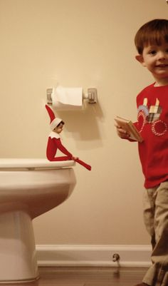 elf on the shelf. for a potty training toddler! @Kristina Parnell    Im going to use this for Mccal!!