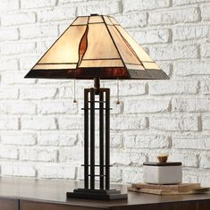 Arts and Crafts - Table Lamps Tiffany Style Table Lamps, Art Deco Table Lamps, Table Lamp Sets, A Table, Outdoor Table Lamps, Metal Accent Table, Lamps For Sale, Stained Glass Lamps, Lamp Bases