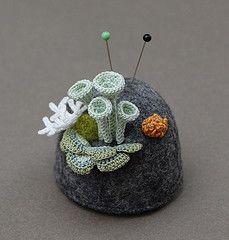 Crochet and felt pincushion