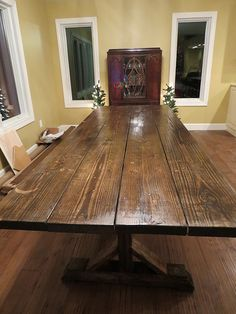 Let's Just Build a House!: DIY Rustic Farmhouse Table