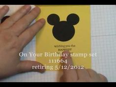 For My Grandsons: Mickey Mouse Punch Art Card - DOstamping with Dawn, Stampin' Up! Demonstrator