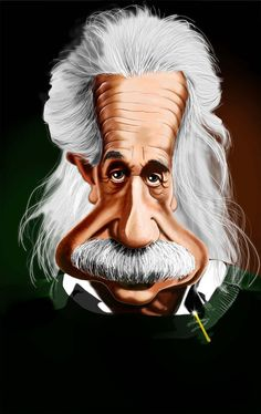 Albert Einstein in Caricature. Can you imagine how will your face look in caricature? Cartoon Faces, Funny Faces, Cartoon Characters, Funny Caricatures, Celebrity Caricatures, Portrait Au Crayon, Cinema Tv, Caricature Drawing, Famous Celebrities