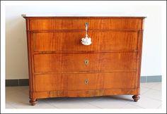 Comò ciliegio mosso Luigi Filippo 1850 Toscano rest marmo canterano , cassettiera cassettone antico