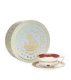 Wedgwood Queen of Hearts Teacup and Saucer Set Tea Cup Saucer, Tea Cups, Tea Culture, Luxury Shop, Queen Of Hearts, Luxury Beauty, Luxury Gifts, Wedgwood, Harrods