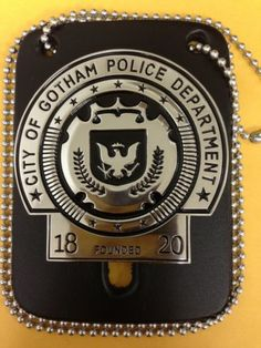 GCPD Gotham City Police Department Badge Metal Replica 1/1 Batman