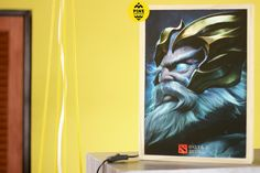 Light Box Zeus Dota 2 & Custom by PineWoodandSpace on Etsy