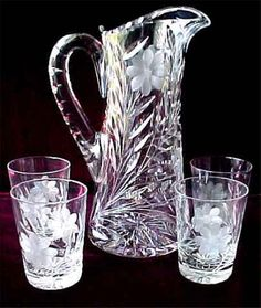 antique crystal | Vintage Glassware Milk Glass Crystal Pressed Glass Pattern Glass & DSC05571_0132_edited-1 | Glass pitchers Crystals and Glass