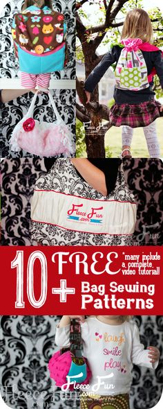 So many great DIY gift ideas and I love that several have a video tutorial to walk me through it. Bags and purses to sew free patterns! Great collection of totes and other bag tutorials.