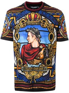Dolce & Gabbana Julius Caesar Print T-shirt Dolce & Gabbana, Dolce And Gabbana Shirts, Men Fashion Show, Mens Fashion, Fairytale Fashion, My T Shirt, Graphic Tees, At Least, Pure Products