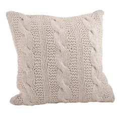 Cable Knit Design Throw Pillow - Overstock Shopping - Great Deals on Throw Pillows