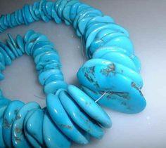 Large Sleeping Beauty Disc Beads