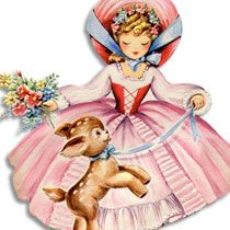 Clipart: Free Spring and Autumn Girl Image