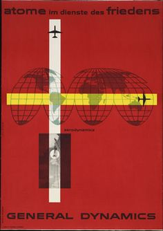 Erik Nitsche. Atome im Dienste des Friedens, General Dynamics. 1955