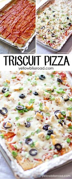 Triscuit Pizza - A healthy snack. lunch. or Game Day appetizer!