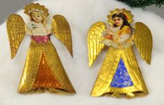 Lot # : 1523 - TWO ANGEL TREE TOPPERS