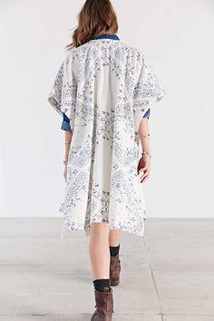 Ecote Indigo Kimono - Urban Outfitters