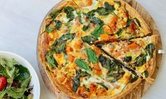 This quiche recipe combines the sweetness of leek and pumpkin with the saltiness of ham and cheese. Pour it all into a flaky pastry shell and you've got a flavour combo made in heaven. Spinach Puff Pastry, Spinach Quiche, Spinach And Cheese, Cake Ingredients, Homemade Tacos, Homemade Taco Seasoning, Pastry Shells, Flaky Pastry