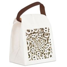 Mind Your ABCs Canvas Lunch Bag