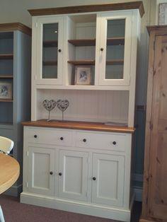 Welsh dresser solid pine victorian linen press glass doors shelves chatsworth 4ft dresser planetlyrics Gallery