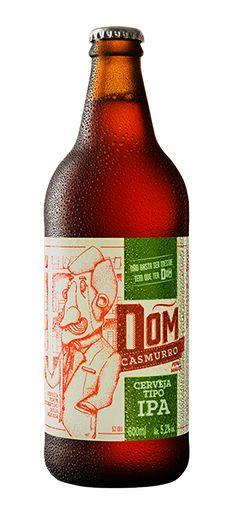 Cerveja Dom Casmurro IPA, estilo India Pale Ale (IPA), produzida por Dom Haus, Brasil. 5.2% ABV de álcool.
