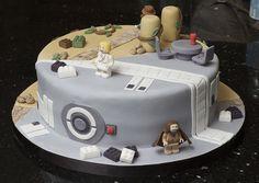 lego starwars and lego Indiana Jones cake.....Hunters dream cake