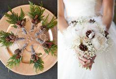 herrliche-brautstraeusse-hochzeit-winter-zapfen-deko-zimtstange-gypsophila-weisse-rosen-feder