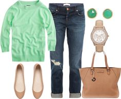 """Mint & Nude"" by jouds919 on Polyvore"