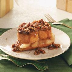 Baked Apple French Toast Recipe from Taste of Home -- shared by Beverly Johnston of Rubicon, Wisconsin