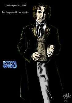 The Eighth Doctor - colour by on DeviantArt Doctor Who Fan Art, Bbc Doctor Who, Eighth Doctor, 13th Doctor, Dr Who Companions, Paul Mcgann, William Hartnell, Christopher Eccleston, Man Go
