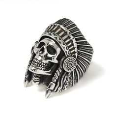 Wes Lang Indian Chief Ring