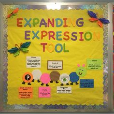Expanded expression tool bulletin board in our speech room