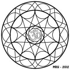 Mandalas - MRU - : MANDALA OM PARA PINTAR
