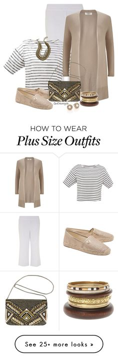 """Curvy Woman - Plus Size"" by ginothersyde on Polyvore featuring Evans, Studio 8, MICHAEL Michael Kors, Oscar de la Renta, Avenue, women's clothing, women, female, woman and misses"