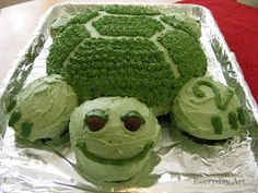Everyday Art: Turtle Birthday Cake