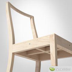 3D Model Of Ply Chair Jasper Morrison - 3D Model