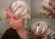 How to fingerwave /pin curls. Very pretty and love the color!