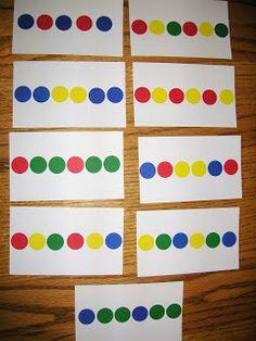 Circle - Pattern Cards Activity Self-Correcting Math Activities for Preschoolers - Weird Unsocialized Homeschoolers Math Classroom, Kindergarten Math, Fun Math, Math Games, Math Activities, Toddler Activities, Preschool Activities, Maths, Classroom Ideas