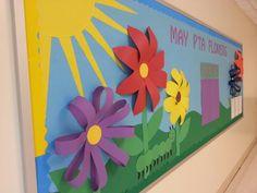 May bulletin board 2013 3D flowers
