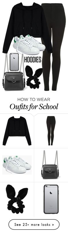 """In My Hood: Cozy Hoodies"" by vany-alvarado on Polyvore featuring Topshop, WithChic, Madewell, Fendi, OtterBox and Hoodies"