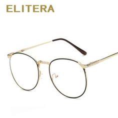 caba4fd31 ELITERA Novo Moda óculos de armação miopia óculos de armação oculos de grau  femininos das mulheres dos homens do vintage lente Simples Quadro