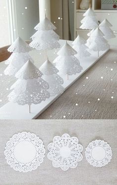 bastelideen weihnachten Winter ONEderland First Birthday Party Ideas - A Winter Wonderland party in hues of silver, white, pink and blue is perfect for a child with a winter bi Winter Wonderland Birthday, Winter Wonderland Christmas, Winter Birthday, Winter Christmas, Winter Wonderland Decorations, Christmas Birthday Party, Frozen Christmas, Christmas Candle Decorations, Christmas Tree Crafts