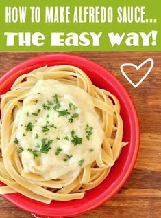 Alfredo Sauce Recipe! Easy Homemade Pasta Sauce is so much simpler than you think! Just 5 ingredients and you've got a creamy, dreamy sauce just like the restaurants! Go grab the recipe and give it a try this week! Shrimp Recipes Easy, Yummy Pasta Recipes, Sauce Recipes, Easy Dinner Recipes, Cooking Recipes, Fall Recipes, Dinner Ideas, Recipe Pasta, Copycat Recipes