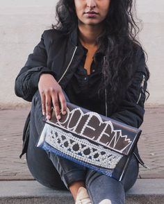 Available now! Kent Stetson Queen clutch 👑
