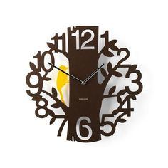 Woodpecker Wall Clock Brown—Modern and analog, sweet and unique: this Woodpecker Wall Clock is a charming addition to any child or teen's room—and its resident woodpecker even moves back and forth as the clock ticks! House Decoration Items, Silver Wall Clock, Wall Clock Silent, Clock Wall, Black Clocks, Kitchen Wall Clocks, Wall Clock Online, Tabletop Clocks, Brown Bird