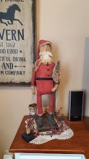 Ravenwood Whimzies Primitives & Folk Art: A Country Christmas at Ravenwood Primitive Folk Art, Primitive Christmas, Country Christmas, Good Morning Dear Friend, Santa Doll, Sewing Toys, Primitives, Xmas, Dolls