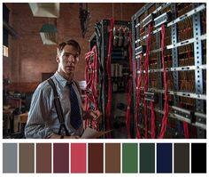 The Imitation Game (Descifrando Enigma) Pallette, Colour Pallete, Color Palettes, Color Schemes, Light Cinema, Movie Color Palette, Color In Film, Cinema Colours, Color Script