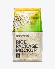 Bag W/ Basmati Rice Mockup. Preview