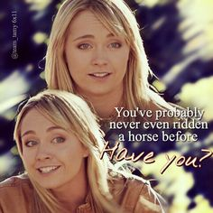 Me when I told my friends I fell of my horse and then some bitch comes up and tells me all about what i did wrong and how I can't even ride. Watch Heartland, Heartland Quotes, Heartland Ranch, Heartland Tv Show, Heartland Seasons, Heartland Georgie, Heartland Actors, Amber Marshall, Marshall Lee